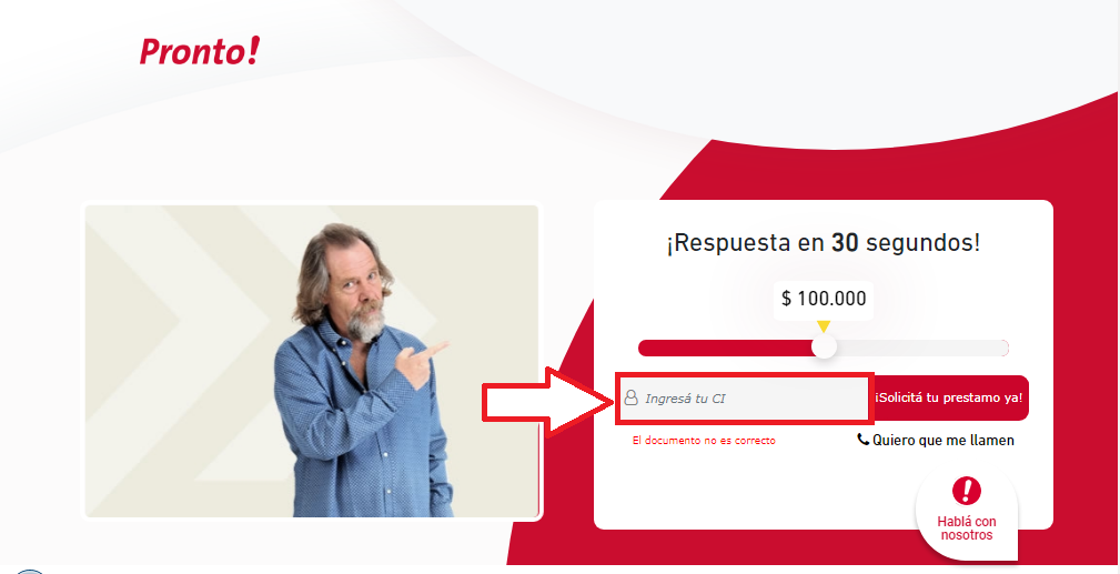 ¿Para que sirven los prestamos personales sin recibo sueldo en Uruguay paso 1.
